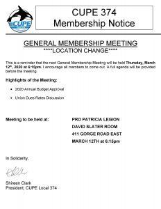 General Membership Meeting @ PRO PATRICIA LEGION - DAVID SLATER ROOM